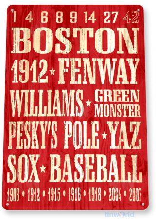 tin sign a257 boston red sox rustic baseball sign garage bar cave tinworld tinsign_com