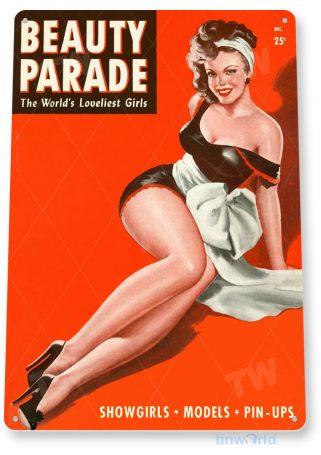 tin sign a258 bp pin-up girl retro magazine cover garage shop cave tinworld tinsign_com