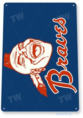 tin sign a259 atlanta braves retro baseball sports sign tinworld tinsign_com