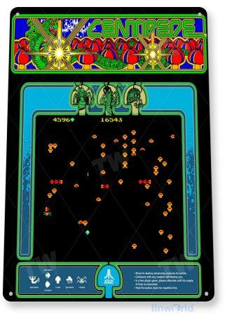 tin sign a278 centipede arcade shop game room sign marquee retro console tinworld tinsign_com