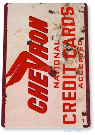 tin sign a288 chevron national retro rustic card sign auto shop cave garage tinworld tinsign_com