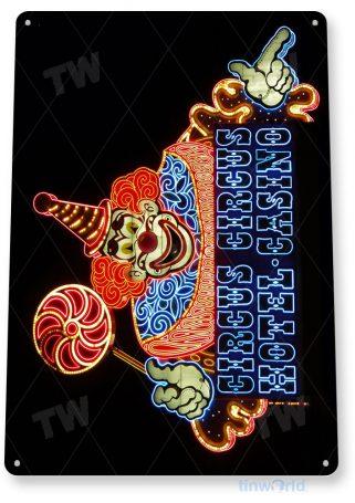 tin sign a293 circus circus vegas hotel casino sign tinworld tinsign_com