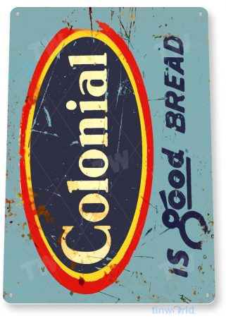 tin sign a300 colonial bread kitchen cottage farm store tinworld tinsign_com