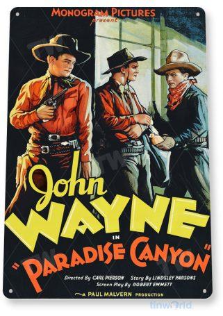 tin sign a324 john wayne paradise canyon movie poster home theater cave tinworld tinsign_com