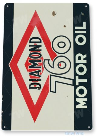 tin sign a325 diamond 760 retro motor oil gas sign garage auto shop cave tinworld tinsign_com