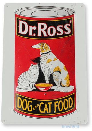 tin sign a343 dr. ross dog and cat food sign kitchen cottage farm store tinworld tinsign_com