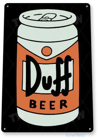 tin sign a345 duff beer cartoon sign auto shop garage cave tinworld tinsign_com