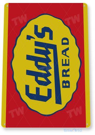 tin sign a353 eddy's bread retro sign kitchen cottage farm tinworld tinsign_com