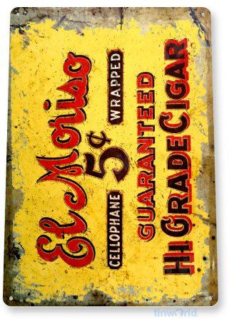 tin sign a356 el moriso cigar rustic tobacco sign bar smoke shop cave tinworld tinsign_com