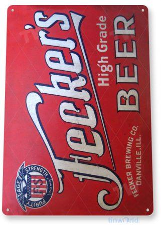 tin sign a364 fecker's beer retro pub bar cave sign tinworld tinsign_com