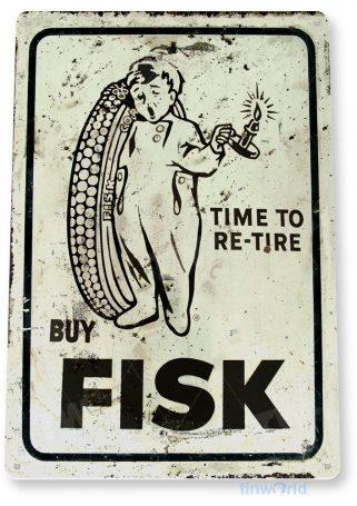 tin sign a371 fisk tires rustic retro auto parts sign garage cave tinworld tinsign_com