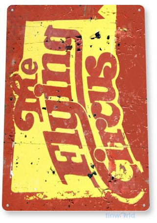 tin sign a373 flying circus rustic retro sign kitchen cottage farm cave bar tinworld tinsign_com