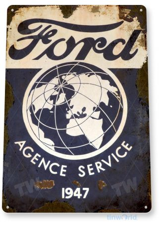 tin sign a374 ford agence rustic retro service sign auto shop garage cave tinworld tinsign_com