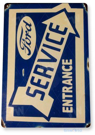 tin sign a380 ford service rustic retro entrance sign auto shop garage cave tinworld tinsign_com