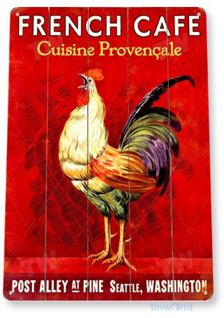 tin sign a383 french cafe rustic sign kitchen cottage farm tinworld tinsign_com