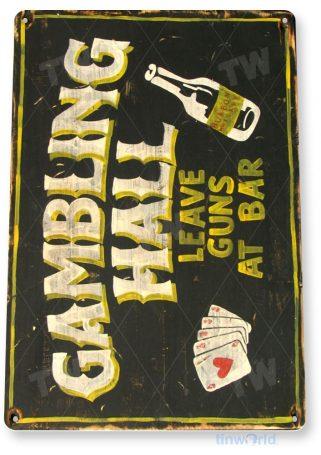 tin sign a402 gambling hall rustic bar pub cave beer sign tinworld tinsign_com