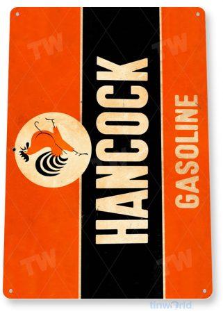 tin sign a424 hancock gasoline retro oil gas sign auto shop garage cave tinworld tinsign_com