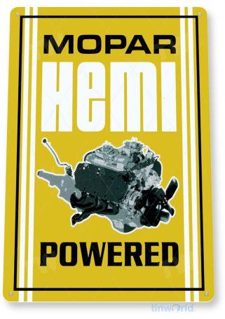 tin sign a428 hemi mopar engine retro auto shop sign garage cave tinworld tinsign_com
