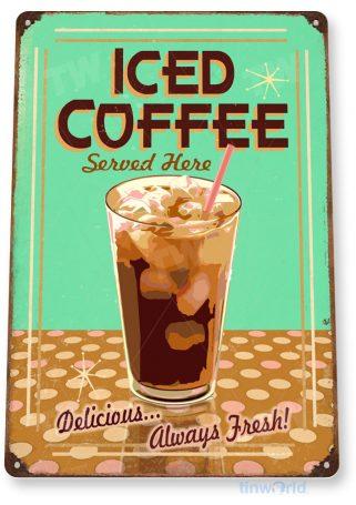 tin sign a435 ice coffee retro sign kitchen cottage farm tinworld tinsign_com