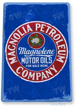 tin sign a482 magnolia petroleum rustic retro gas oil sign auto shop garage cave tinworld tinsign_com