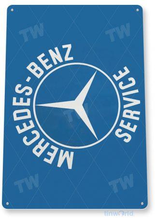 tin sign a491 mercedes-benz service sign auto shop garage cave tinworld tinsign_com
