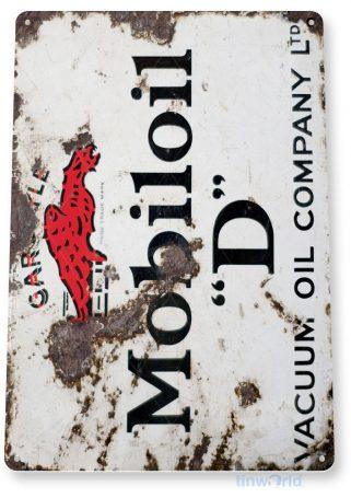 tin sign a495 mobil oil d mobiloil rustic gas oil sign garage auto shop cave tinworld tinsign_com
