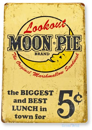 tin sign a505 moon pie 5c retro rustic cake sign kitchen cottage farm cafe tinworld tinsign_com