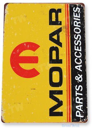 tin sign a507 mopar parts retro garage auto shop sign cave tinworld tinsign_com