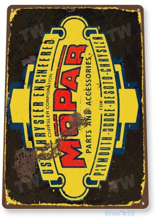tin sign a508 mopar retro garage auto shop sign cave tinworld tinsign_com