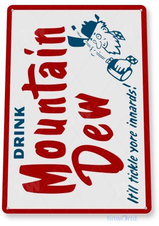 tin sign a514 mountain dew retro soda cola sign kitchen cottage farm bar cave tinworld tinsign_com