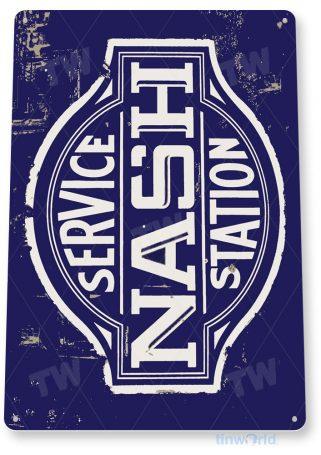 tin sign a519 nash service station rustic retro oil gas sign auto shop garage cave tinworld tinsign_com