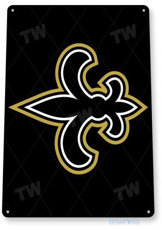 tin sign a521 new orleans saints fleur-de-lis football sports tinworld tinsign_com