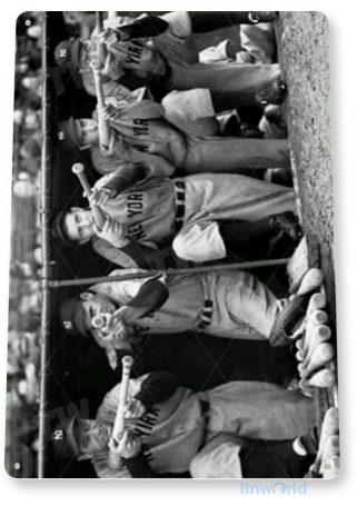 tin sign a522 new york bunker historic yankees baseball photo tinworld tinsign_com