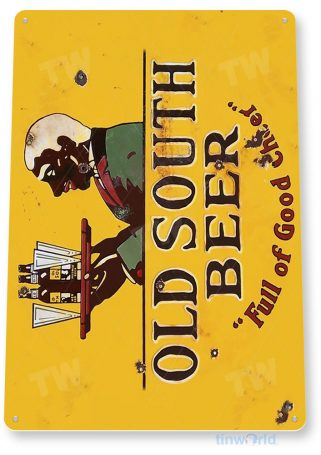 tin sign a530 old south beer store rustic retro pub brew bar cave tinworld tinsign_com