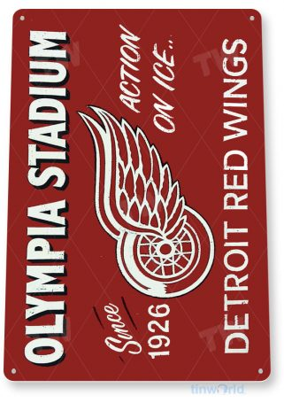 tin sign a531 olympia stadium detroit red wings hockey sports bar tinworld tinsign_com