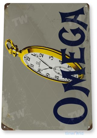 tin sign a532 omega watches time piece jewelry store shop cave tinworld tinsign_com