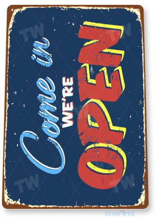 tin sign a533 open kitchen store shop bar cottage farm cave tinworld tinsign_com