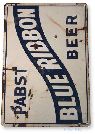 tin sign a549 pabst blue ribbon rustic retro beer sign pub bar cave tinworld tinsign_com