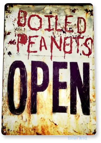 tin sign a559 peanuts rustic open sign kitchen cottage store farm tinworld tinsign_com