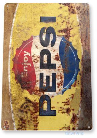 tin sign a564 pepsi rusty rustic retro soda cola sign kitchen cottage cave tinworld tinsign_com
