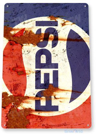tin sign a565 pepsi cola retro 80's rust soda sign kitchen cottage cave tinworld tinsign_com