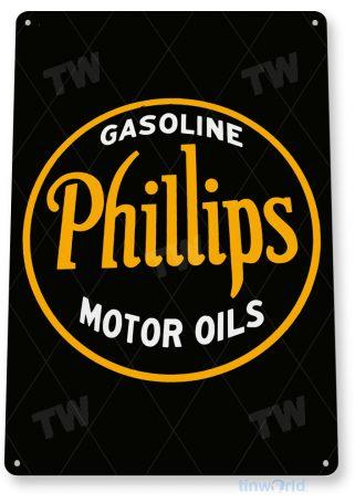 tin sign a568 phillips motor retro oil gas sign garage auto shop cave tinworld tinsign_com