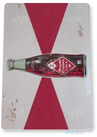 tin sign a584 rc royal crown retro rustic soda cola sign kitchen cottage cave tinworld tinsign_com