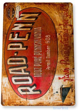 tin sign a594 road penn rustic retro gas oil sign garage auto shop cave tinworld tinsign_com