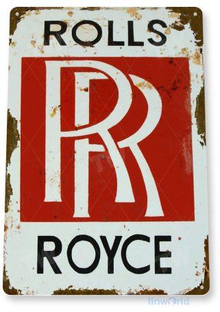 tin sign a596 rolls royce rr retro rustic dealer sign auto shop garage cave tinworld tinsign_com