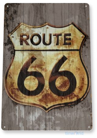 tin sign a597 route 66 freedom rustic road sign cottage auto shop cave tinworld tinsign_com