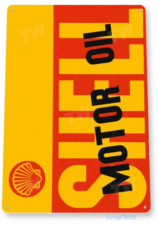 tin sign a606 shell motor oil retro gas station sign garage auto shop cave tinworld tinsign_com