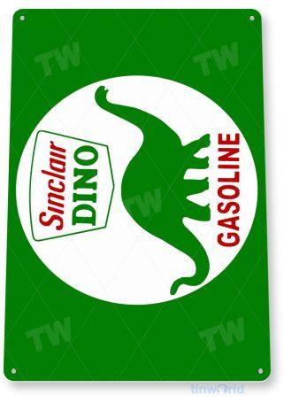 tin sign a608 sinclair dino gas rustic gas station sign garage auto shop cave tinworld tinsign_com