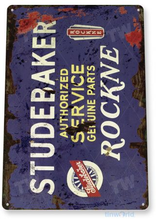 tin sign a628 studebaker retro rustic service oil gas sign auto shop garage cave tinworld tinsign_com