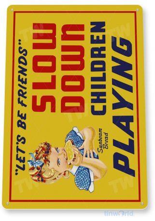 tin sign a634 sunbeam bread slow retro kitchen cottage farm store sign tinworld tinsign_com